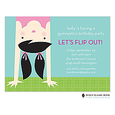 : Topsy Turvy Party Invitation