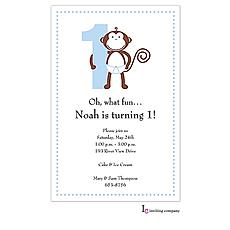 : 1st Monkey Boy Invitation