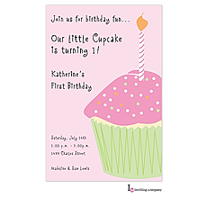 : Cupcake Girl Invitation