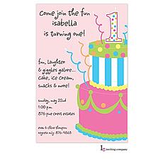 : Pink Cake Invitation