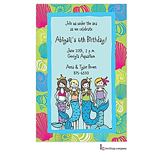 : Little Mermaids Invitation