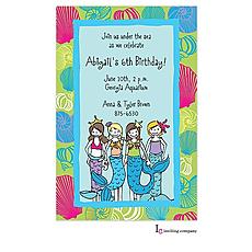 : Little Mermaids Invitation