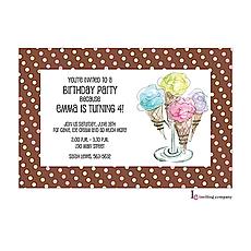 : Ice Cream Invitation