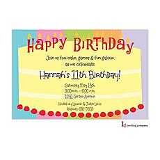 : Round Cake Invitation