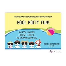 : Pool Friends Invitation