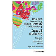 : Balloon Bouquet Invitation