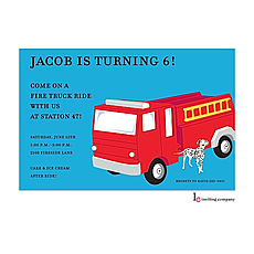: Fire Truck Invitation