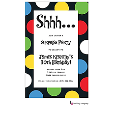 : Party Dot Invitation