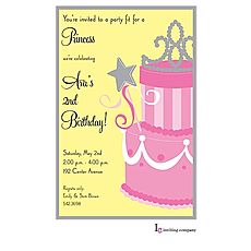 : Princess Cake Invitation