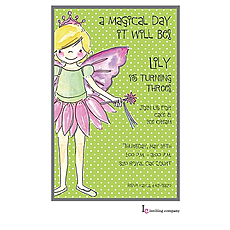 : Fairy Girl Invitation