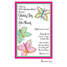 : Butterfly Wash Invitation