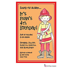 : Fireman Boy Invitation