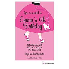 : Poodle Skirt Invitation