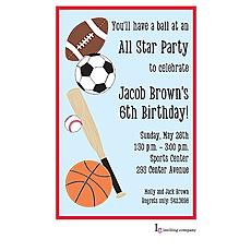 : Stitched Sports Invitation