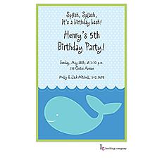 : Stitched Whale Invitation