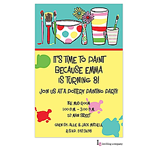 : Painting Pots Invitation