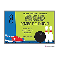 : Bowling Shoes Invitation