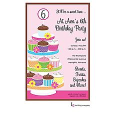 : Cupcake Tower Invitation