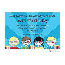 : 3D Movies Invitation