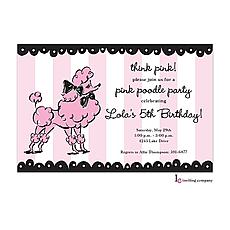 : Pink Poodle Invitation