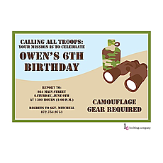 : Camo Spy Invitation