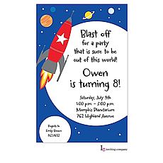 : Space Rocket Invitation