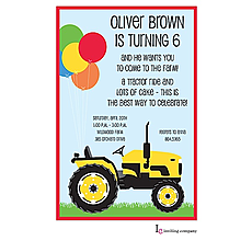 : Farm Tractor Invitation