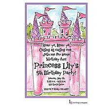 : Pink Castle Invitation