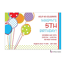 : Bright Balloons Invitation