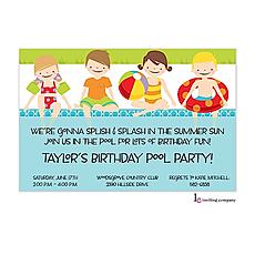: Poolside Kids Invitation