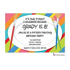 : Paint Plates Invitation