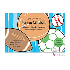 : Sports Balls Invitation