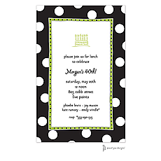 : Big Dots Black & White Invitation
