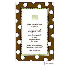: Big Dots Chocolate & Lime Invitation