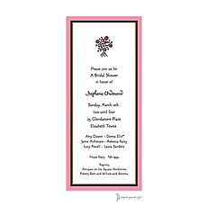 Black Border On Deep Pink Edge Invitation -