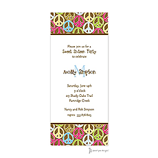 Peace Signs Multi Invitation -