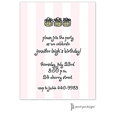 : Classic Stripes Pink Invitation