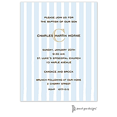 Just Stripes Blue Invitation -