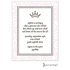 Swirls Pink Invitation -