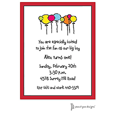 : Classic Edge Red Invitation