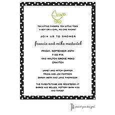: Dotted Edge Black Invitation