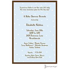 : Little Dots On Blue Invitation