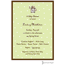 : Little Dots Lime & Chocolate Invitation