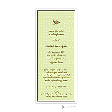: Sweet Dots Lime Invitation