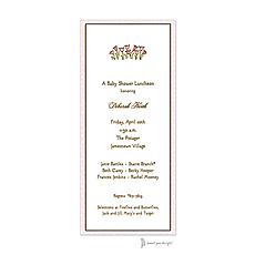 : Dotted Edge Pink & Chocolate Invitation