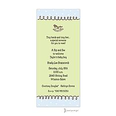 : Curly Border Blue & Lime Invitation