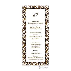 : Fun Daisies Pink & Chocolate Invitation