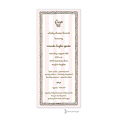 : Stripes & Lace Pink Invitation