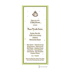 Little Dots Multi & Lime Invitation -