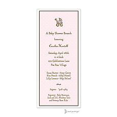 : Sweet Dots Pink Invitation